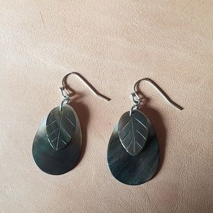 Jewelry - Cut and carved shell earrings